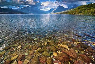 Mcdonald Lake Colors Art Print