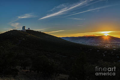 Texas Photograph - Mcdonald Observatory Sunset by Tod and Cynthia Grubbs