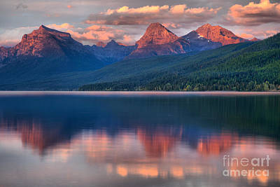 Photograph - Mcdonald Red Peak Reflections by Adam Jewell