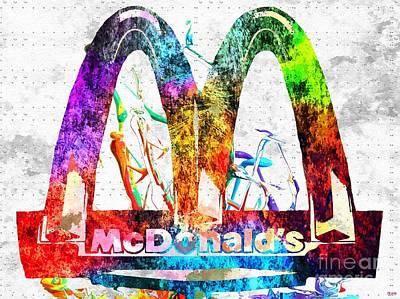 Mcdonalds Mixed Media - Mcdonald's Grunge by Daniel Janda