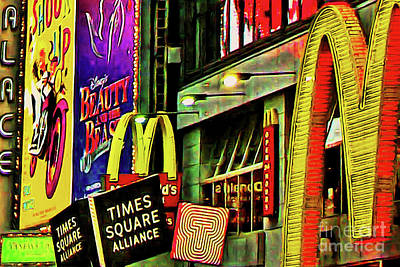 Photograph - Mcdonalds Hamburger In Time Square Midtown Manhattan New York City 20180517 by Wingsdomain Art and Photography
