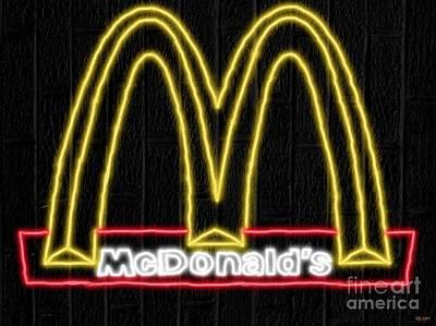 Mcdonalds Mixed Media - Mcdonald's Neon by Daniel Janda