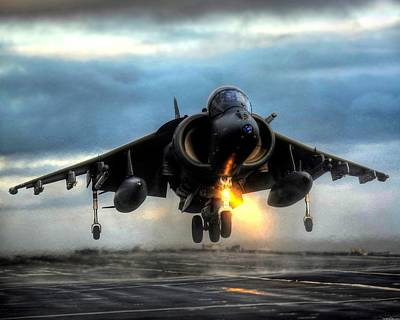 Airplane Digital Art - Mcdonnell Douglas Av-8b Harrier II by Super Lovely