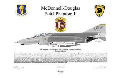 Digital Art - Mcdonnell Douglas F-4g 69-7201 by Arthur Eggers
