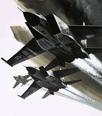Black History Painting - Mcdonnell Douglas F15 Eagle Jet Fighter by Wilf Hardy