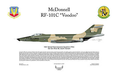 Digital Art - Mcdonnell Rf-101c Voodoo by Arthur Eggers