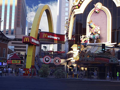 Photograph - Mcd's On The Strip by Bruce Iorio