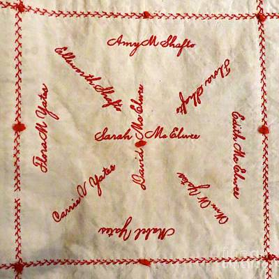 Photograph - Mcelwee Family Quilt Square  by Nancy Patterson