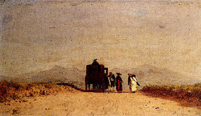 Mcentee Digital Art - Mcentee Jervis A Journey S Pause In The Roman Campagna by Jervis McEntee