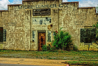 Photograph - Mcgee Lumber 2 by Rodney Lee Williams