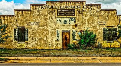 Photograph - Mcgee Lumber by Rodney Lee Williams
