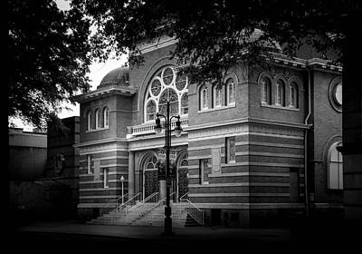 Photograph - Mcglohon Theatre At Spirit Square In Black And White by Greg Mimbs