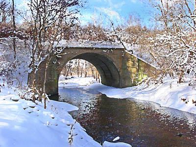 Digital Art - McGowan Bridge by Steve Karol