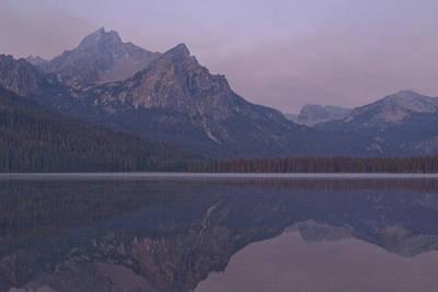 Mcgowen Peak At Sunrise Art Print by John Higby