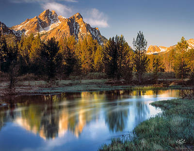 Mcgown Peak Sunrise  Art Print by Leland D Howard