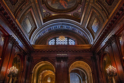 Photograph - Mcgraw Rotunda Nypl by Susan Candelario