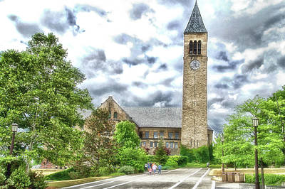 Mcgraw Tower Cornell University Ithaca New York Pa 10 Art Print by Thomas Woolworth