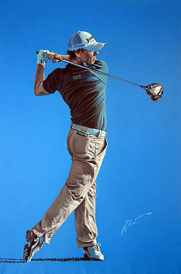 Golfer Painting - Mcilroy 2012 by Mark Robinson