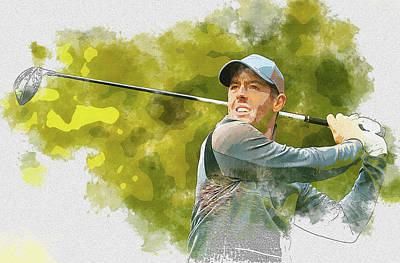 Digital Art - Mcilroy by Don Kuing