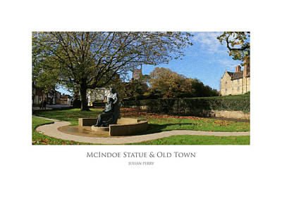 Digital Art - Mcindoe Statue by Julian Perry