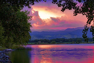Mcintosh Lake Sunset Art Print