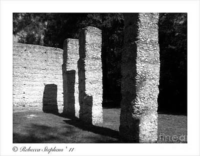 Tabby Photograph - Mcintosh Sugar Mill Tabby Ruin Pillars by Rebecca Stephens