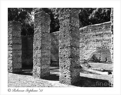 Ruin Photograph - Mcintosh Sugar Mill Tabby Ruins 1825  by Rebecca Stephens