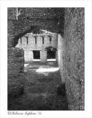 Historical Photograph - Mcintosh Sugar Mill Tabby Ruins Arch by Rebecca Stephens