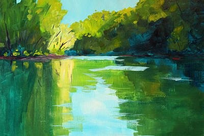 Painting - Mckenzie River by Nancy Merkle