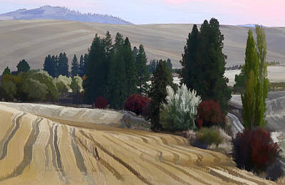 Mckenzie Road In The Palouse Art Print by Jerry McCollum