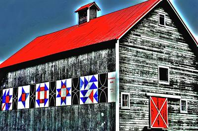 Surrealism Royalty-Free and Rights-Managed Images - McKibben Barn Surreal by Jerry Sodorff