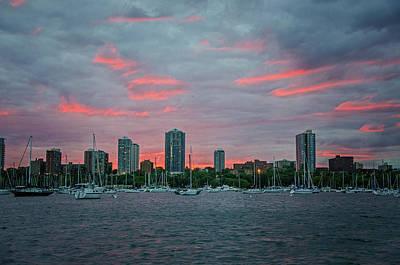 Photograph - Mckinley Marina Sunset by Susan McMenamin