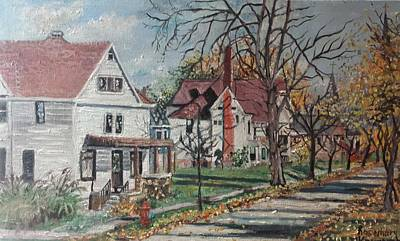 Painting - Mckinley Street, Bay City, Mi by Rosemary Kavanagh