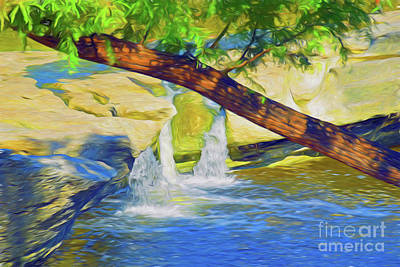 Photograph - Mckinney Falls State Park - Lower Falls - Texas 18-38 by Ray Shrewsberry