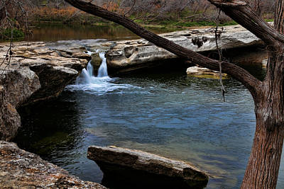 Photograph - Mckinney Falls State Park-upper Falls 6 by Judy Vincent