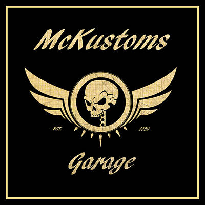 Photograph - Mckustoms Garage by Steve McKinzie