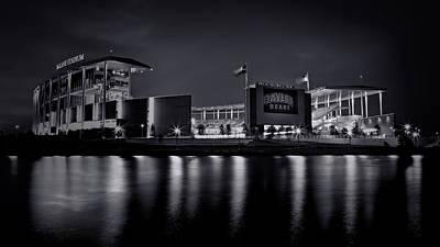 Rg3 Photograph - Mclane Stadium - Bw No. 3 by Stephen Stookey