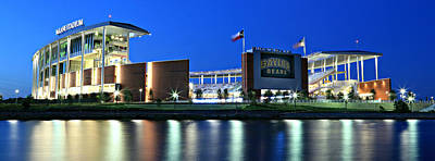 Sports Royalty-Free and Rights-Managed Images - McLane Stadium Panoramic by Stephen Stookey