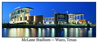 Athletes Royalty-Free and Rights-Managed Images - McLane Stadium Print by Stephen Stookey
