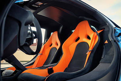 Photograph - #mclaren #675lt #interior #print by ItzKirb Photography