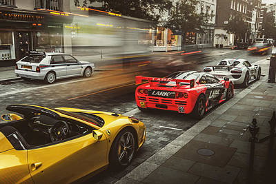 Photograph - Mclaren F1 Gtr With Speciale And Integrale And 918 by George Williams