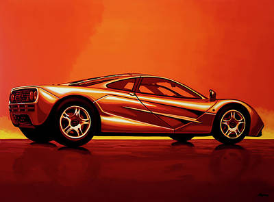 Supercars Painting - Mclaren F1 1994 Painting by Paul Meijering