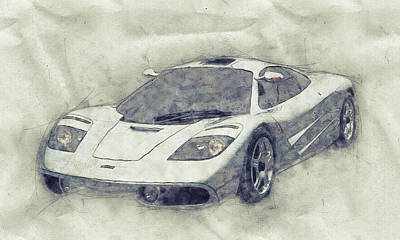 Mixed Media - Mclaren F1 - Sports Car 1 - Roadster - Automotive Art - Car Posters by Studio Grafiikka