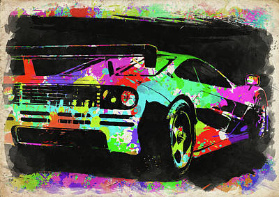 Photograph - Mclaren F1 Watercolor IIi by Ricky Barnard