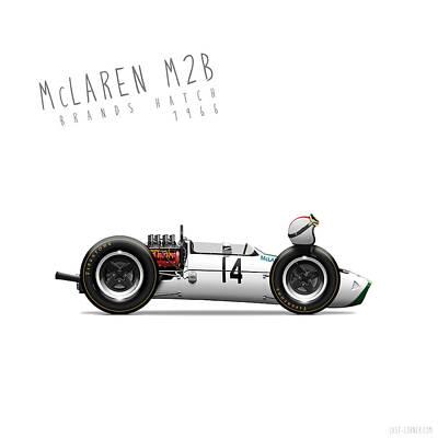 Racing Cars Digital Art - Mclaren M2b 1966 Compressed by Last Corner
