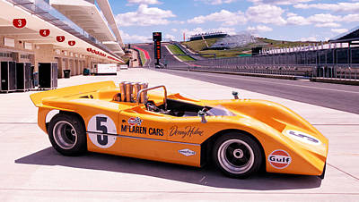 Motorsport Photograph - Mclaren M8a by Peter Chilelli