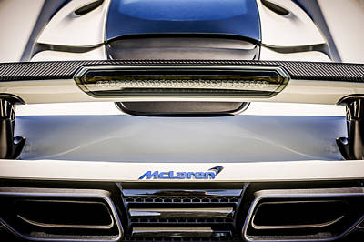 Photograph - Mclaren Mp4 12c Rear View -0668c by Jill Reger