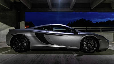 Photograph - Mclaren Mp4-12c Side View by Randy Scherkenbach