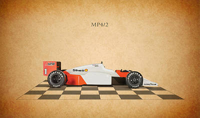 Formula Car Photograph - Mclaren Mp4 1984 by Mark Rogan