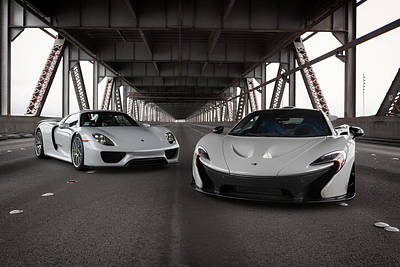 Photograph - #mclaren #p1 And #porsche #918spyder #print by ItzKirb Photography